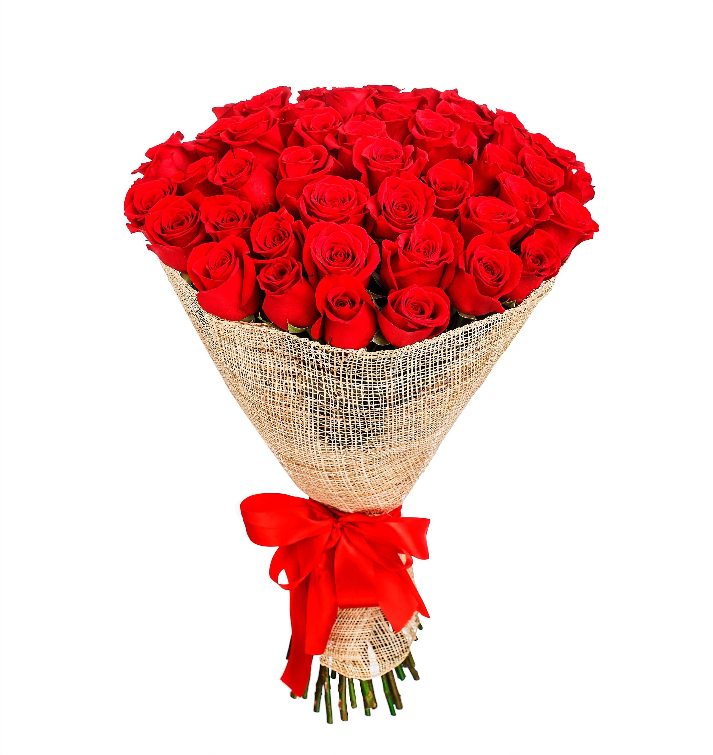 ramo de 50 rosas rojas