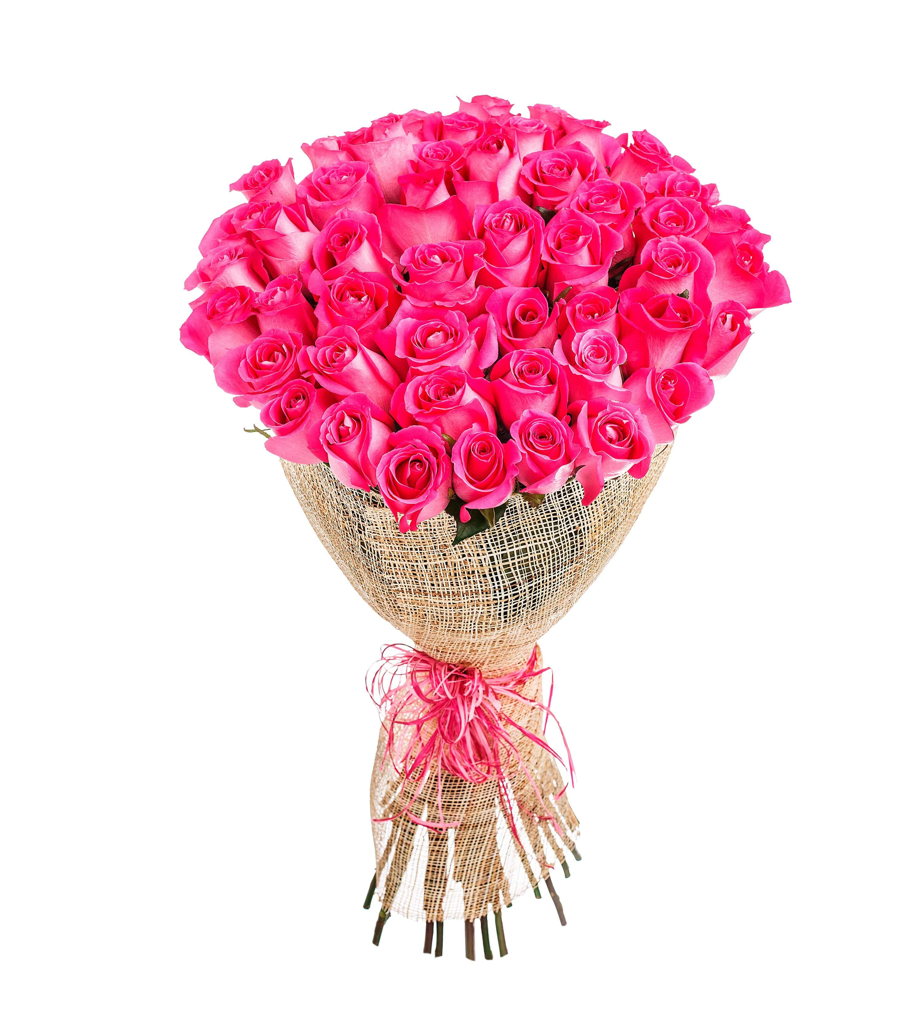 ramo de 50 rosas rosas