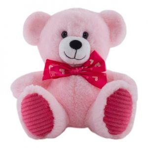 oso de peluche rosa
