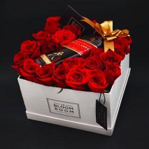 caja 22 rosas whisky etiqueta roja